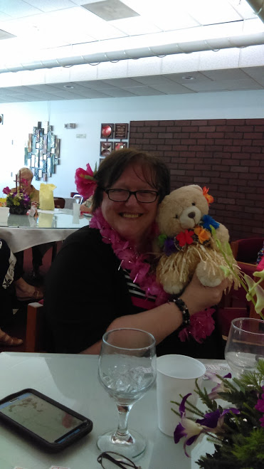 Laurie the Basket Winner at 2016 Southern District Convention